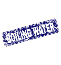 Scratched boiling water framed rounded rectangle vector