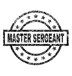 Scratched textured master sergeant stamp seal vector