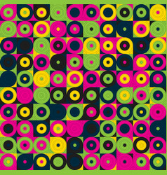 seamless geometric pattern with circles colorful vector image