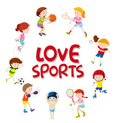 set of sport athletes character vector image