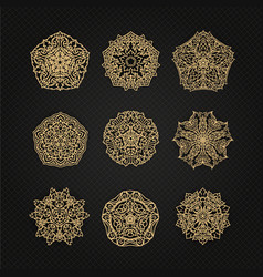 set of thai art element graphic thai design eps10 vector image vector image