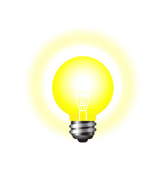 shining light bulb on a white background vector image