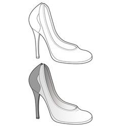shoes footwear design fashion flat sketch vector image