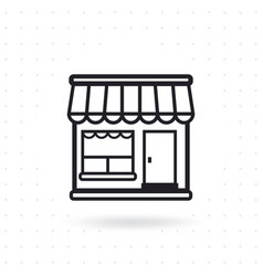 shopping store icon vector image