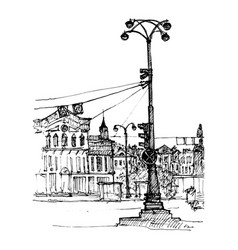 sketch city street vector image