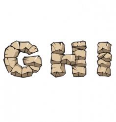 stone Alphabet ghi vector image