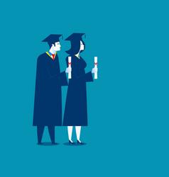 Students successful graduation concept education vector