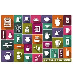 symbols of tea and coffee vector image