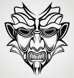 Tribal Traditional Mask vector