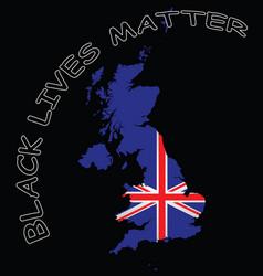 united kingdom black lives matter vector image