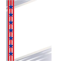 usa flag symbols border vector image