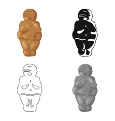 Venus of stone age icon in cartoon style isolated vector