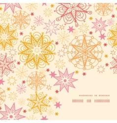 Warm stars frame corner pattern background vector