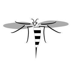 Wasp with a stinger vector