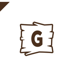 Wooden alphabet or font blocks with letter g vector