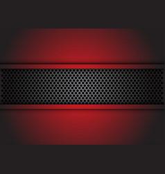 abstract dark gray circle mesh banner vector image