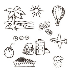 Outline Drawings By Hand In The Journey Sketch vector image vector image