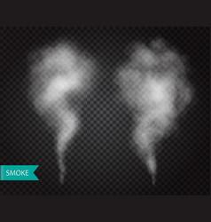 Smoke fog transparent effect mist or smog vector