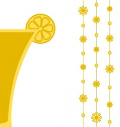 yellow cocktail vector image