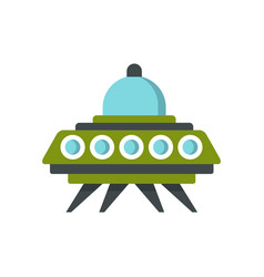 alien spaceship icon flat style vector image