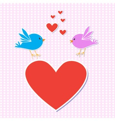 birds in love vector image
