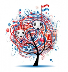 football tree design vector image