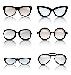 glasses optic vector image