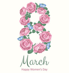 International happy womens day 8 march holiday vector