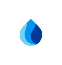 water asbtract droplet logo vector image vector image
