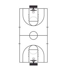 basketball court top vector image