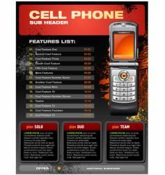 cellphone brochure vector image