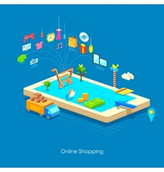 e commerce concept vector image vector image