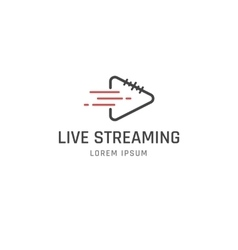 Live Streaming sign vector image
