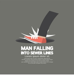Man Falling Into Sewer Lines vector image vector image