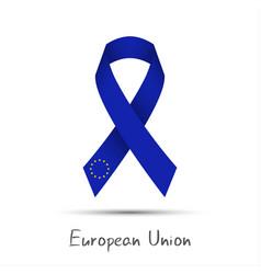 modern colored ribbon european union vector image vector image