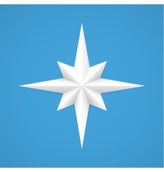 Old style compass vector image
