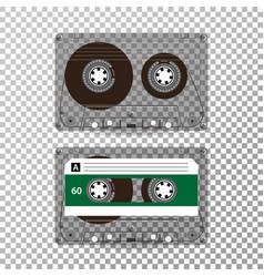 retro audio cassette realistic vector image