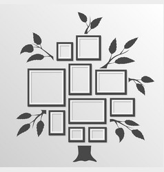 tree with frames vector image vector image