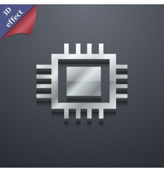 Central Processing Unit icon symbol 3D style vector image