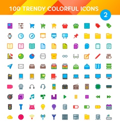 100 universal icons set 2 vector