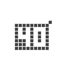 40 year anniversary pixel number template design vector