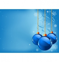 Abstract blue Christmas background vector