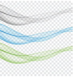 abstract blue green and grey wave on a vector image
