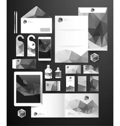 Abstract polygonal business set vector image