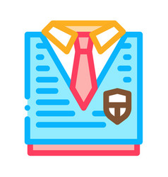 academy uniform concept icon outline vector image