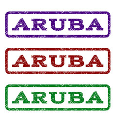 aruba watermark stamp vector image
