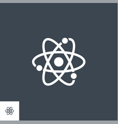 Atom related glyph icon vector