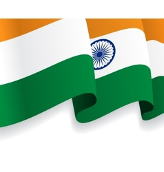 Background with waving Indian Flag vector image