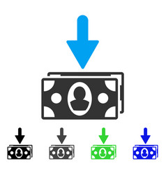 Banknotes income flat icon vector