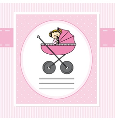 Birth card girl vector